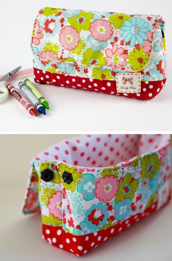 Back to School Supply Pouch | Click Pic for 18 DIY Back to School Crafts for Teens to Make | Easy Back to School Crafts for Kids to Make