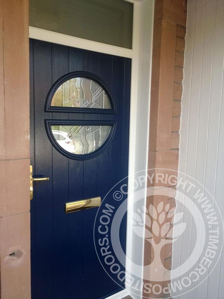Solidor Pisa Italia Collection Timber Composite Door with gold hardware  #solidor #timbercompositedoors #compositedoors