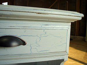 weathered crackle painted furniture how to diy