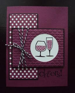 Stampin up Happy Hour.  Like the layout and the colors.