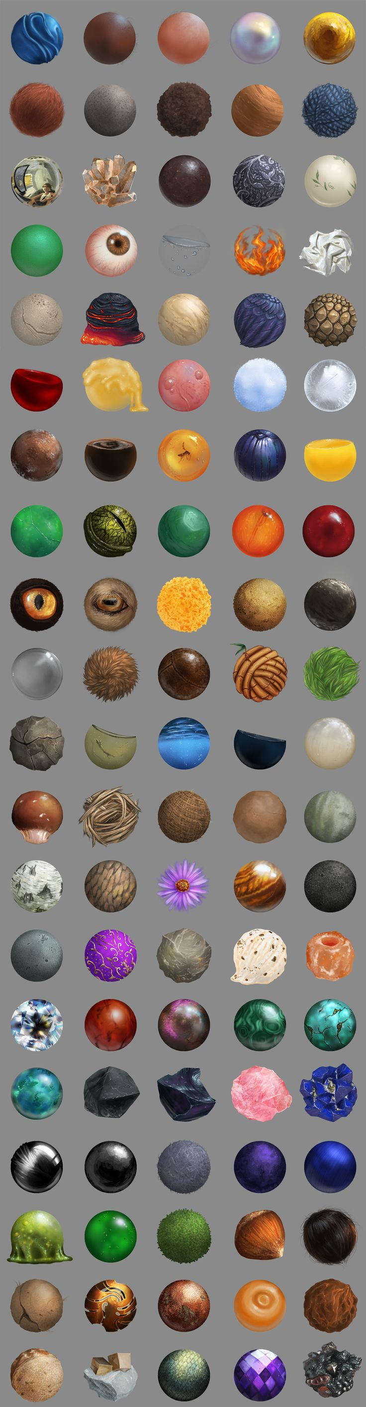 100 Material Studies by ThiaminaTenn on DeviantArt