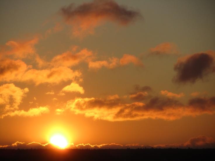 Winter sunrise near St. Margaret's Bay, Nova Scotia
