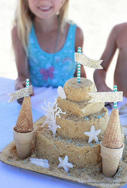 sandcastle cake recipe by Marina Delio, via Flickr