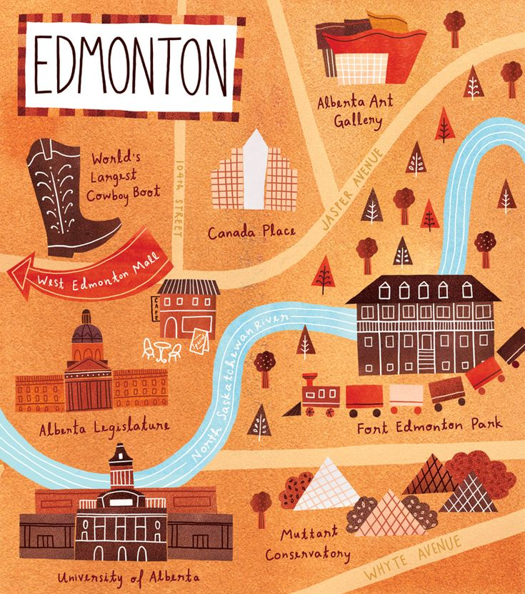 Marisa Seguin , map of Edmonton