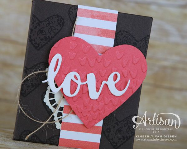 Spread Kindness, Valentines, Stampin' Up! - SU - Treat Box - visit for template