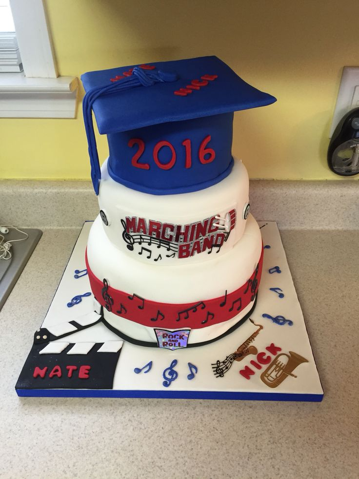 Marching band cake graduation                                                                                                                                                      More
