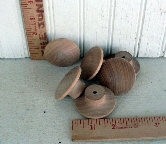Wood Knobs New And Unfinished - 2 Inch Wooden- Door Knob - Drawer Knob