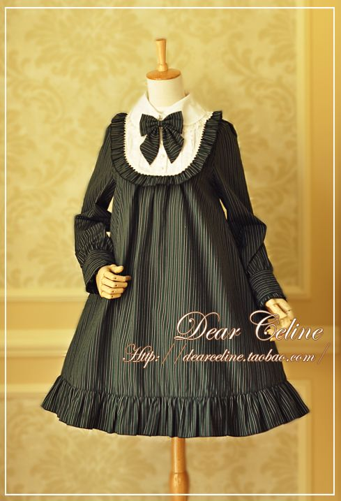 Dear Celine Striped Doll OP