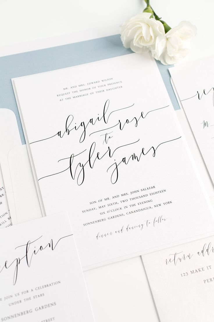 25+ Best Ideas About Modern Wedding Invitations On