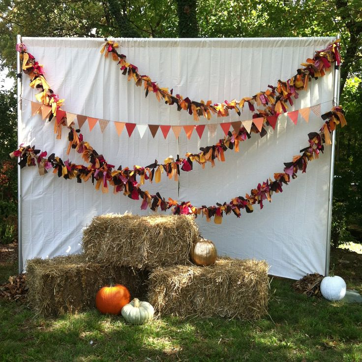 Fall Festival Booth Ideas | We even made a photo booth for families to have the opportunity to ...