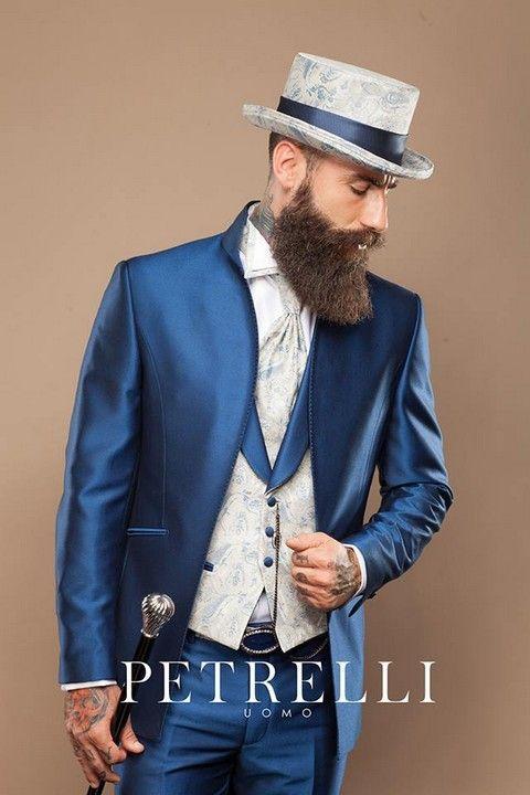 luxusný pánsky oblek, oblek na svadbu, oblek pre ženícha, svadba, ženích, nevesta, požičovňa luxusných oblekov, cylinder, frak, žaket,