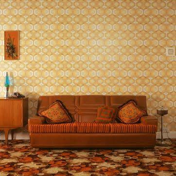 1970s decor - where everything was so orange!