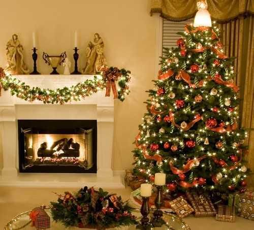 Decorating Home Interior Ideas For Living Room Red And White Christmas Tree Decorations Silver Blue