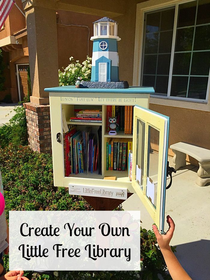 How to create your own Little Free Library to share and swap books.
