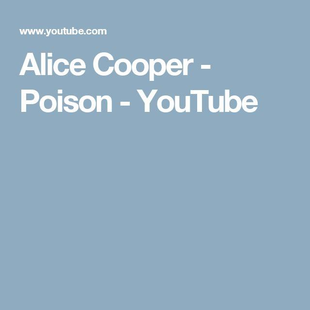 Alice Cooper - Poison - YouTube