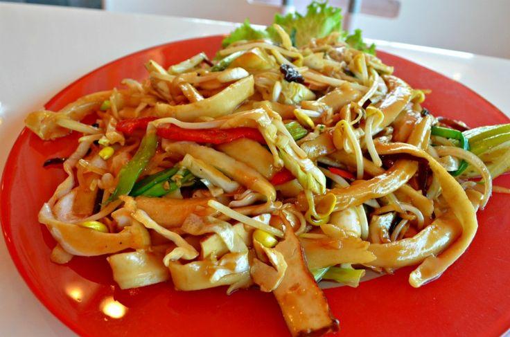 Tasty Dessert has vegetarian hand-shaved noodles, 250 W. Valley Blvd., San Gabriel; 626-282-8263.