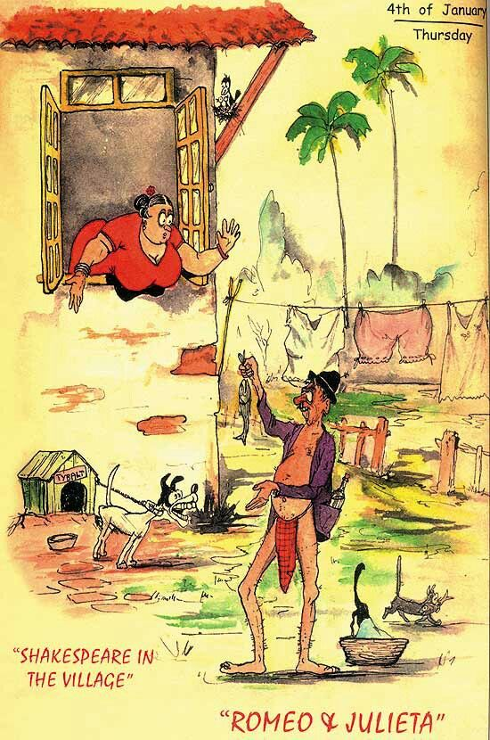 Romeo & Julieta From the book '1951' by Mario Miranda