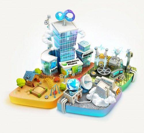 City of Developers - 3D Art by ILYA Denisenko - What an ART