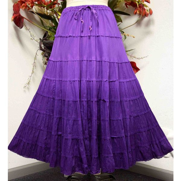 New all Cotton 8 tiered Ombre Dyed Broomstick Designer Long Plus size... ($29) ❤ liked on Polyvore featuring skirts, long summer skirts, cotton maxi skirt, long skirts, ombre maxi skirt and tiered maxi skirts