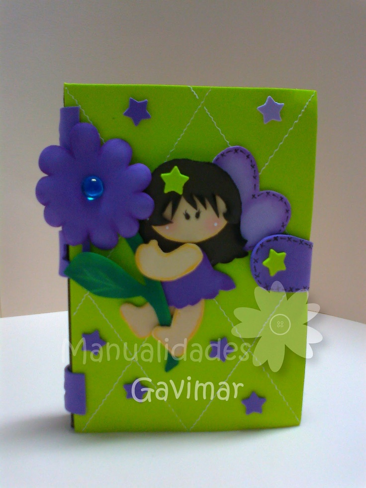 Manualidades gavimar libreta decorada foami mini goma for Decoracion en goma eva para dormitorios