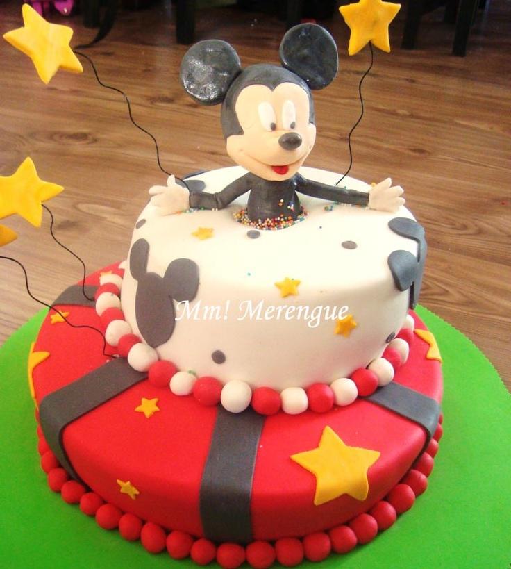 Mickey Mouse Cake - Torta del Ratón Mickey. 100% comestible