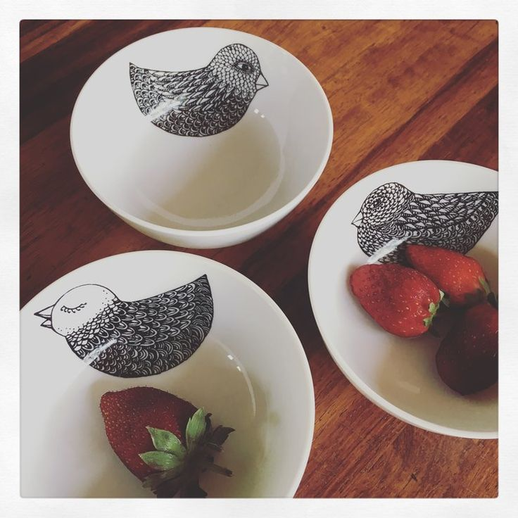 Set of 3 snack bowls by actuallyashleigh