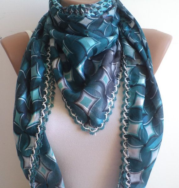 Oil Bulue unique  Scarf Women Fashion women gifts by BloomedFlower, $30.00