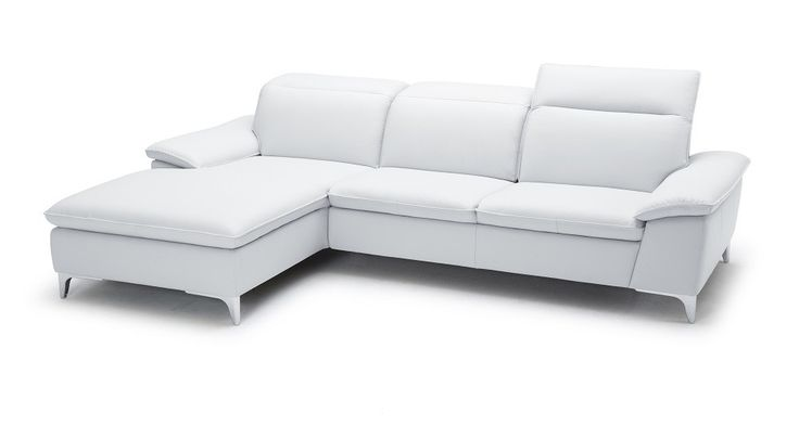 Sleek Leather Sectional sofa