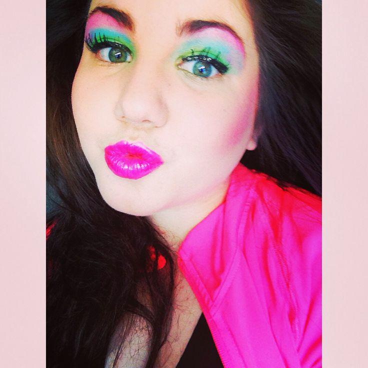 80's makeup colour explosion