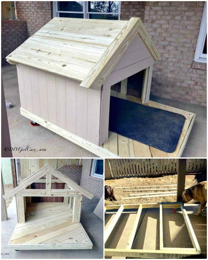 Easy Diy Dog House Tutorial Dog House Diy Diy Dog Crate Dog House Plans