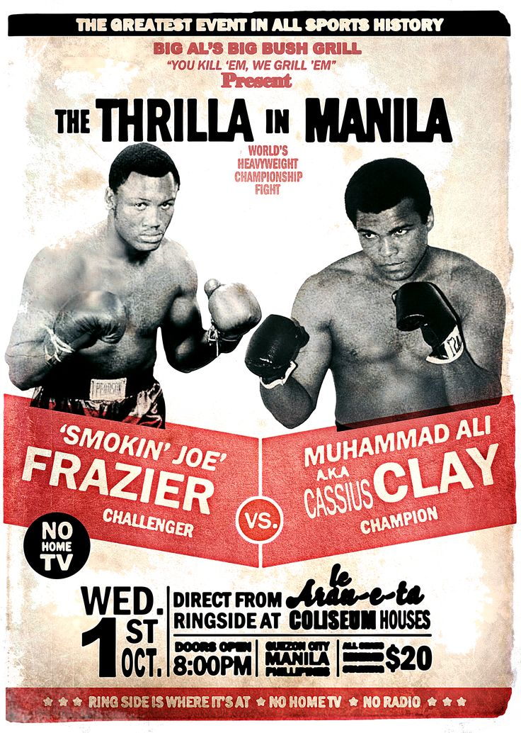 The Thrilla in Manila... Ali A. K. A. Cassius Clay, aún al final de su carrera