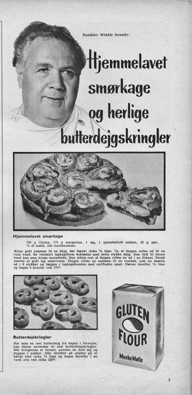 Konditor Edv. R. Winkle. 1957 hjemmelavet smørkage og butterdejskringler