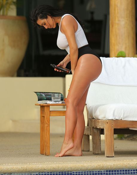 Never before have we seen such explicit photos of Kanye West's wife
