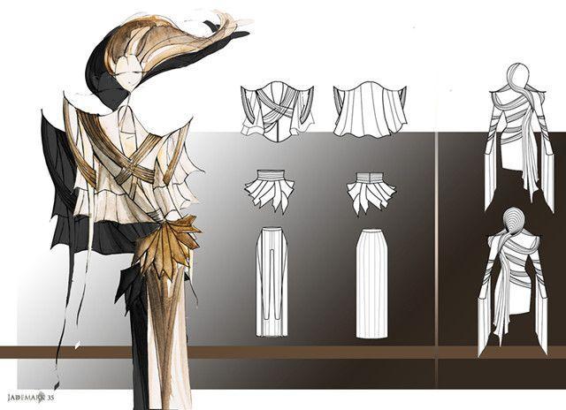 3rd Year Student Work。 Interested in Fashion Design? Check IFA Paris' Signature Program in Fashion design @ http://www.ifaparis.com/courses/undergraduate/bachelor-fashion-design-technology