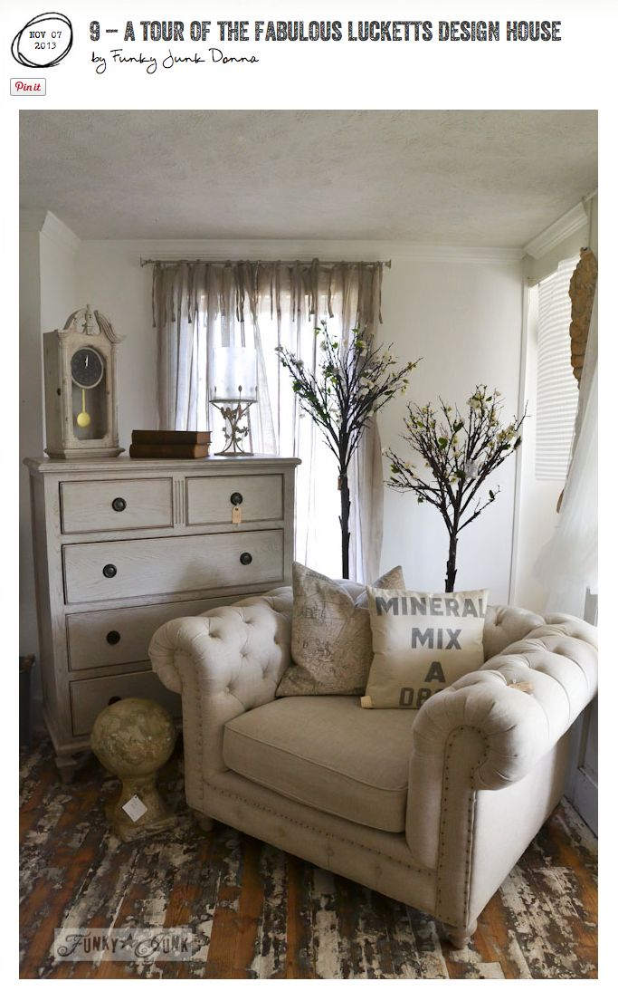 If you were handed an empty farmhouse and asked to fill it up, it may very well resemble this incredible Design House tour! Warning: photo heavy eye candy. via http://www.funkyjunkinteriors.net/