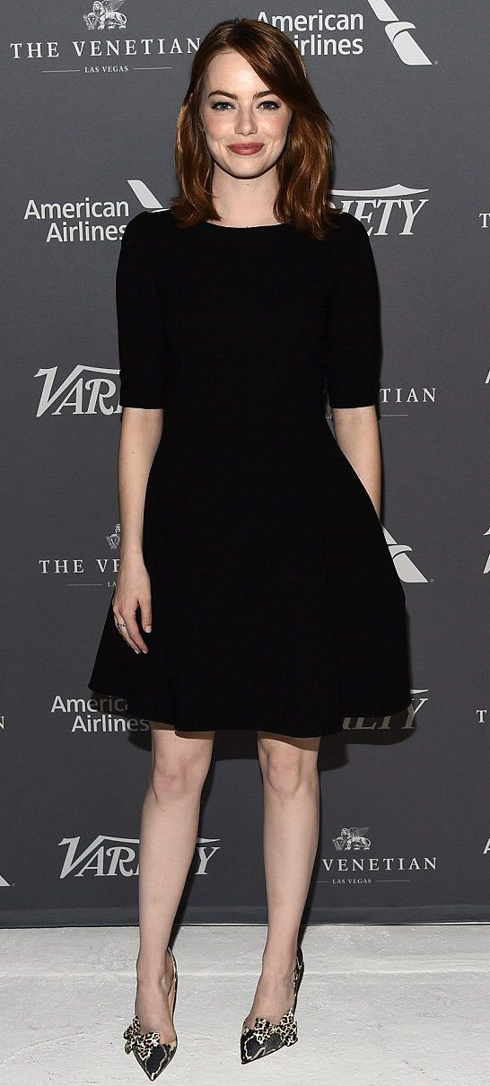 Emma Stone in Dolce & Gabbana paired with Christian Louboutin pumps attends the Variety Studio: Actors on Actors event. #bestdressed