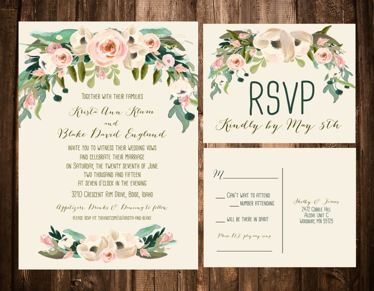 20 best Invitations images on Pinterest Cards, Wedding stationary