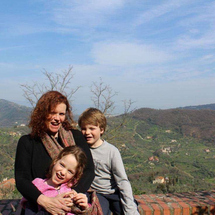 All smiles on arrival at the very beautiful Montecatini Alto.