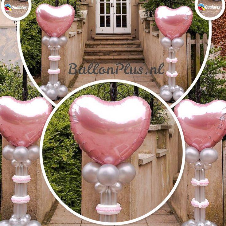Huwelijks ballonnen pilaren ook verkrijgbaar bij BallonPlus.nl