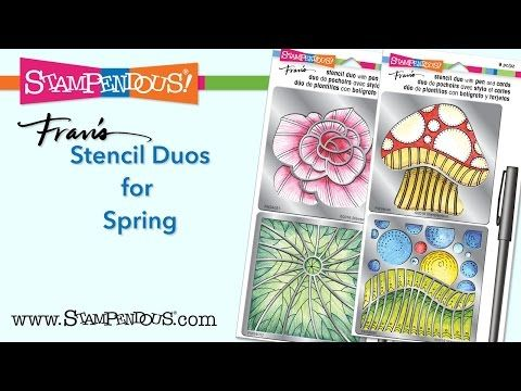 Stampendous Stencil Duos are an awesome gift idea for the beginning crafter. Each contains 6, premium, white folded cards for practice, a 0.03mm black marker and two stainless steel stencils. - YouTube