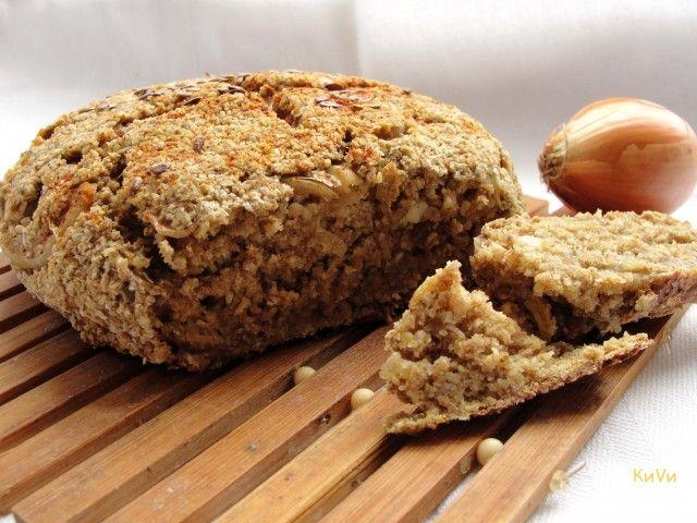 Луковый ржано-овсяный хлеб