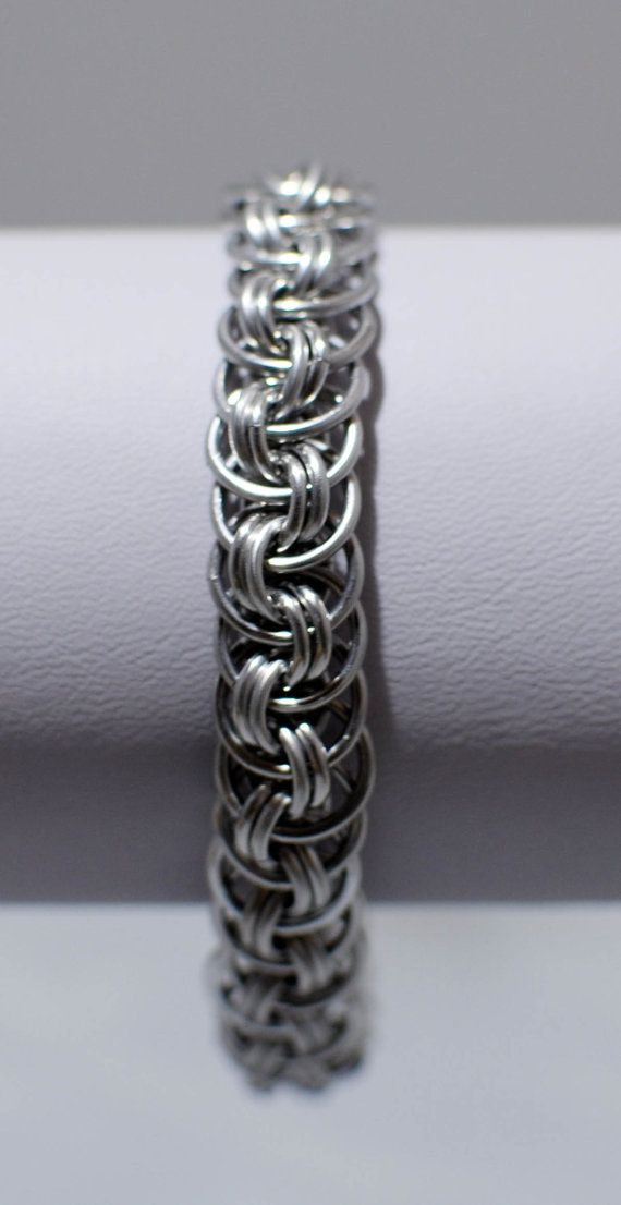 Basket Weave Chainmaille Tutorial : Best chainmaille images on