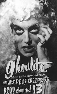 Ghoulita (Lietta Harvey) of Jeepers' Creepers Theatre from 1963-1964.