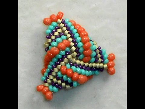 Triangulation - Dimensional Beaded Triangles~ Seed Bead Tutorials