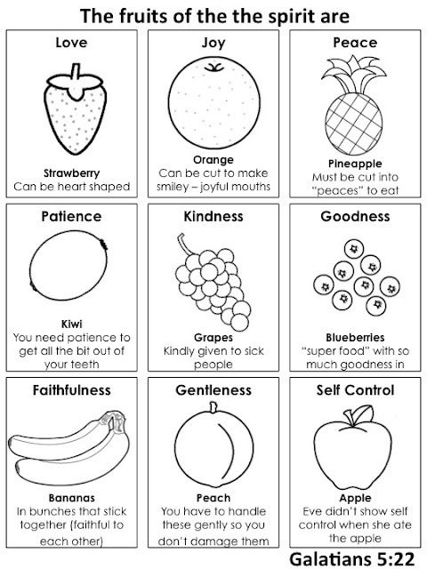 fruits of spirit coloring pages - photo#30