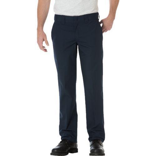 Dickies Men's Slim Straight Fit Poplin Work Pant (Dark Navy, Size 32) - Men's Work Apparel, Men's Work Bottoms at Academy Sports