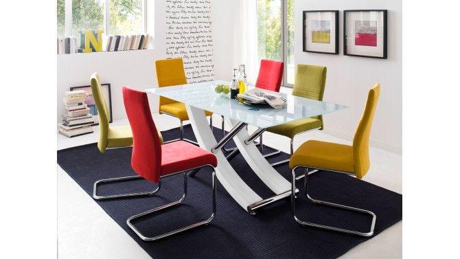 Chaise design en tissu de couleur - Donald