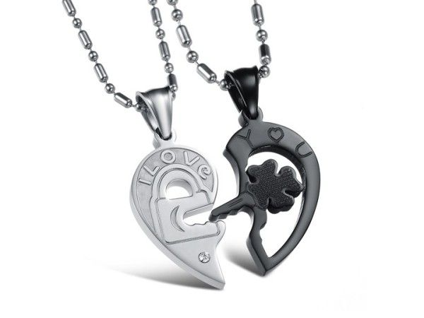 $18,25 Exclusive pair stainless steel pendant + necklace pairing for lovers. Exclusive pairing stainless steel pendant + necklace combination for lovers. BEST PRICE: Directly in the jewelry factory. VAT-free shopping: Available, partners based in the European Union, only applies to EU tax identification number (UID). Exclusive design pairing stainless steel pendant & necklaces for couples and lovers.