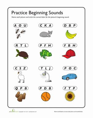 phonic worksheets Google Search Beginning sounds