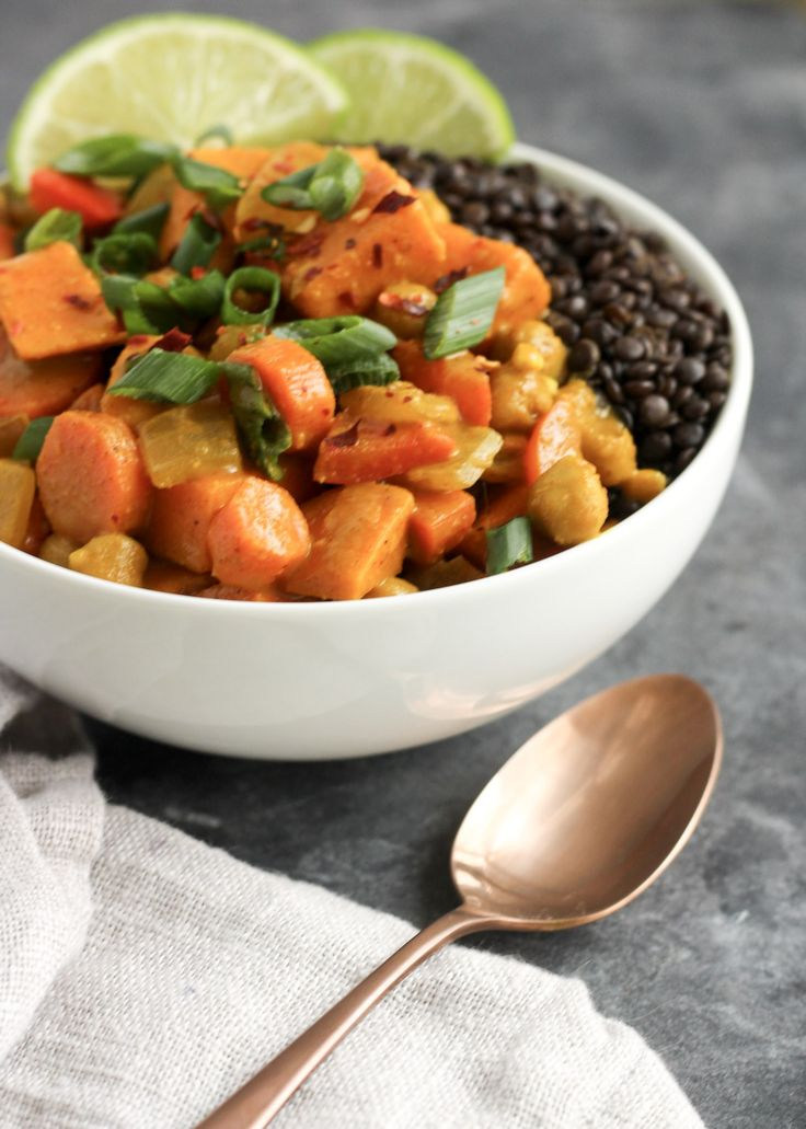 Try this Sweet and Spicy 30 Minute Curry from Street Smart Nutrition for a simple and easy weeknight meal!